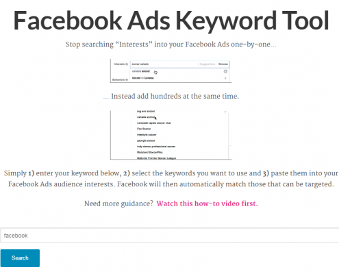 Facebook Ads Keyword Tool