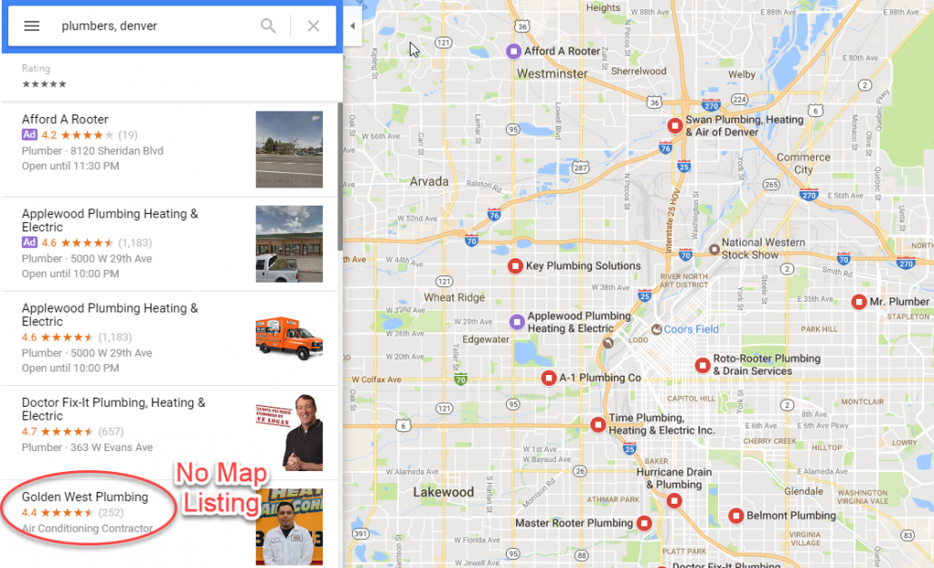 Google Business and Map Listings