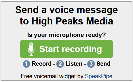 Speakpipe Voice Messaging